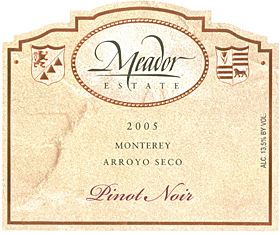 Meador Estate Pinot Noir