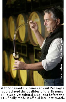 Alto Vineyards' winemaker, Paul Renzaglia