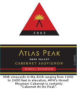 Atlas Peak Winery Howell Mountain Cabernet