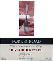 Mission Hill's Fork in the Road, Oliver Block 249 Red