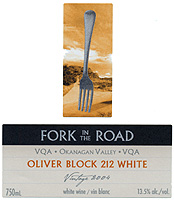 Mission Hill's Fork in the Road, Oliver Block 212 White