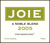 Joie Wines, 2005 A Noble Blend