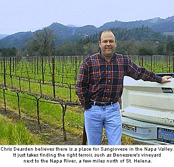 Chris Dearden at his St. Helena vineyard