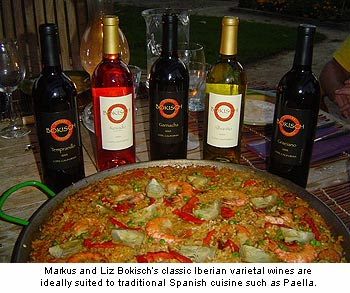 Bokisch Vineyards' wine are ideally suited to Spanish cuisine