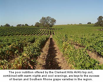 Low nutrition soils in the Clements Hill AVA
