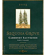 Sequoia Grove 2003 Cabernet