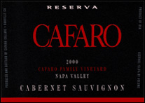 Cafaro Family Vineyard – Napa Valley Reserva Cabernet Sauvignon