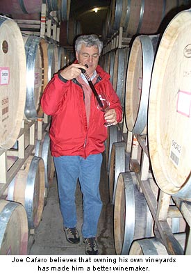 Joe Cafaro in the cellar