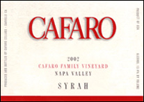 Cafaro Family Vineyard – Napa Valley Syrah