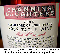 Channing Daughters Winery Rose