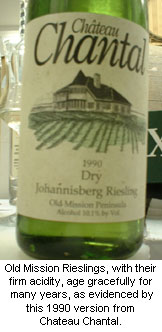Chateau Chantal's 1990 Old Mission Riesling
