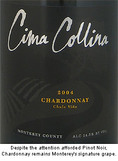 Cima Collina's Chardonnay is perfect expression of Monterey signature grape variety