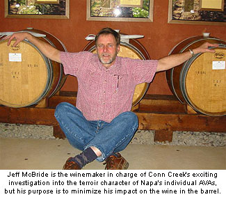 Jeff McBride's function as a winemaker is to let the terroir character of the wine in the barrel show its full potential