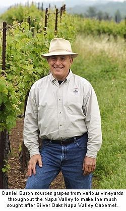 Daniel Baron sources grapes from various vineyards throughout the Napa Valley