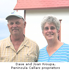 Dave & Joan Kroupa, owners of Peninsula Cellars