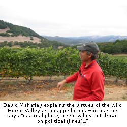 David Mahaffey explains the virtues of Wild Horse Valley