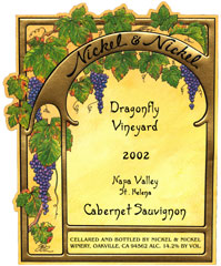 Nickel & Nickel Dragonfly Vineyard Cabernet Sauvignon