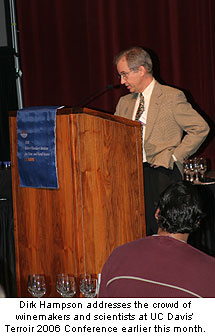 Dirk Hampson at UC Davis' Terroir 2006