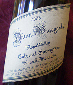 Dunn Vineyards Cabernet Sauvignon 2003.jpg