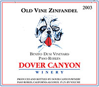Dover Canyon Winery, Benito Dusi Old Vine Zinfandel