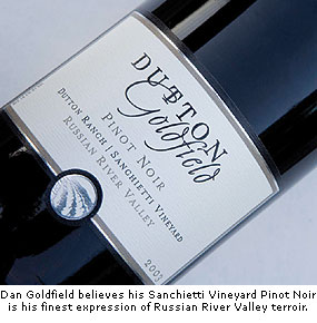 Dan Goldfield believes his Sanchietti Vineyard is the finest expression of RRV terroir