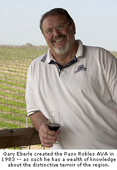 Gary Eberle created the Paso Robles AVA