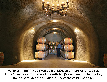 Wines such as Flora Springs' Wild Boar should change the perception of Pope Valley as inexpensive