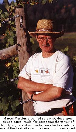 Garry Oaks Winery's Marcel Mercier