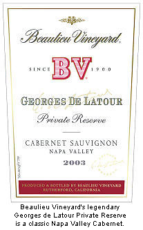 BV Georges de LaTour Cabernet is a Napa Valley Classic