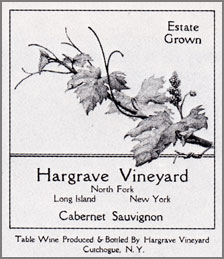 Hargrave Vineyards, Estate Cabernet Sauvignon – North Fork of Long Island