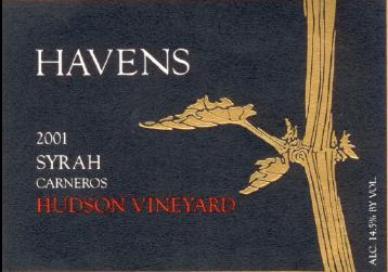 Havens Hudson Vineyard Syrah