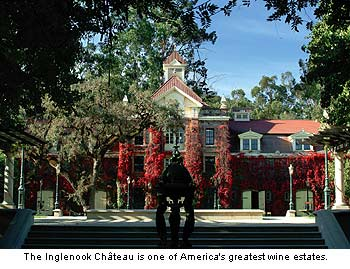 The Inglenook Chateau is one of Americ's greatest wine estates