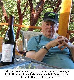 John Gantner makes wines using traditional methods