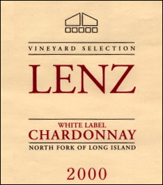 The Lenz Winery Chardonnay, North Fork of Long Island