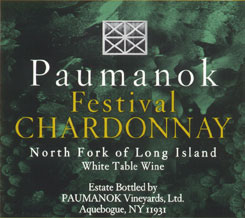 Paumanok Vineyards Festival Chardonnay, North Fork of Long Island