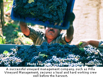 Successful companies secure a crew well before harvest.