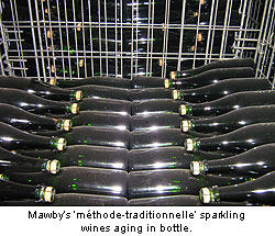 Lawrence Mawby's traditional method sparkling wines