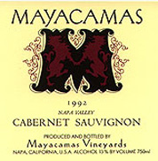 Mayacamas Vineyards produces age worthy Cabernet