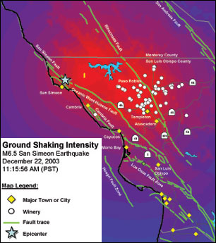 Paso Robles Fault Lines Map