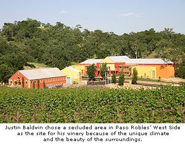Justin Baldwin chose the location of his winery partially for the setting as well the terroir