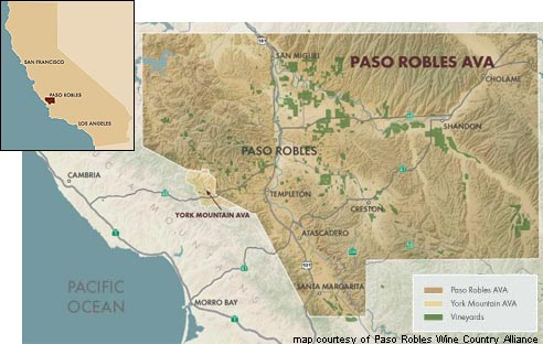 Paso Robles AVA Map