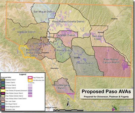Proposed Paso Robles sub-AVAs