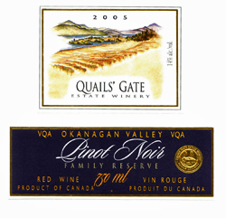 Quails' Gate Estate Winery Pinot Noir