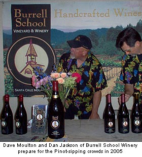 Burrell School Winery sets up for Pinot Paradise 2005