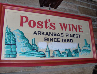 Sign at Post Familie Vineyards