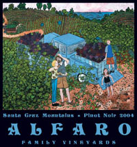 Alfaro Family Vineyards, Santa Cruz Mountains Pinot Noir