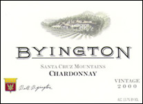 Byington Winery, Santa Cruz Mountains Chardonnay