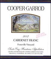 Cooper-Garrod, Santa Cruz Mountains Cabernet Franc