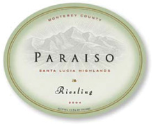 Paraiso Vineyards Riesling, Santa Lucia Highlands