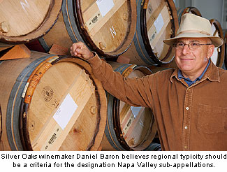 Daniel Baron believes regional typicity of wine should be a criteria for awarding AVA status